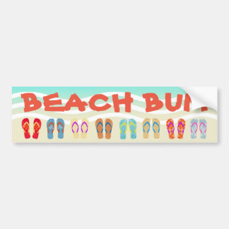 Beach Bum Summer Flip Flops Bumper Sticker