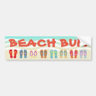 Beach Bum Summer Flip Flops Bumper Sticker