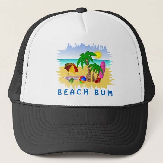 96612f65806 Beach Bum Sun Sea and Surf Fun Colorful Hat