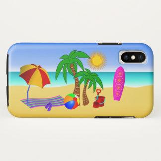 Beach Bum Sun Sea Surf Scene Cute Fun Tough iPhone X Case