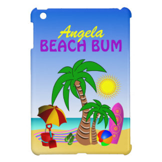Beach Bum Sun Sea Surf Scene Cute iPad Mini Case