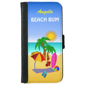 Beach Bum Sun Sea Surf Scene iPhone 6 6S Folio iPhone 6/6s Wallet Case