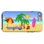 Beach Bum Sun Sea Surf Scene Tough iPhone 6 Cases Tough iPhone 6 Case