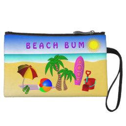 Beach Bum Sun Sea Surf Small Clutch Bag Purse