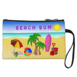 Beach Bum Sun Sea Surf Small Clutch Bag Purse Wristlet Purses