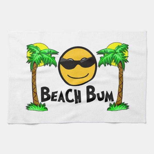 Beach Sunshine Palm Trees Hand Towel