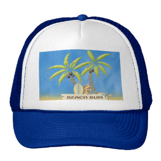 Beach Bum, Surfboards, Palm Trees and Sand Trucker Hat