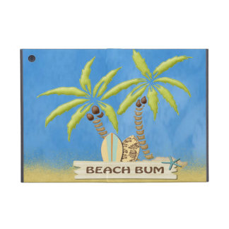 Beach Bum, Surfboards, Palm Trees and Sand Cover For iPad Mini