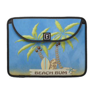 Beach Bum, Surfboards, Palm Trees and Sand Sleeve For MacBook Pro