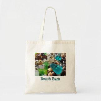 Beach Bum tote bags Agate Rocks Seaglass Shells