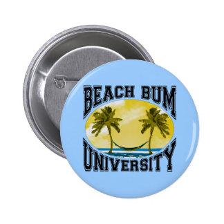 Beach Bum University Button