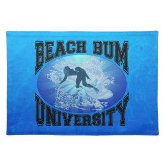 Beach Bum University Cloth Placemat
