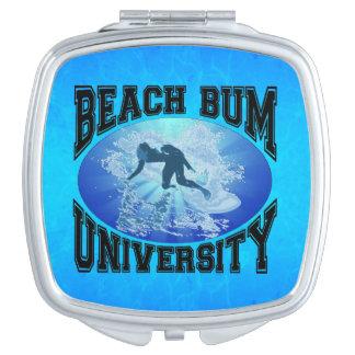 Beach Bum University Compact Mirror