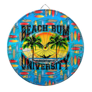 Beach Bum University Dartboard With Darts