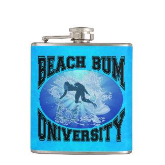 Beach Bum University Hip Flask