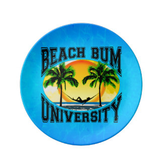 Beach Bum University Porcelain Plates