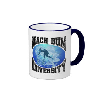 Beach Bum University Coffee Mugs