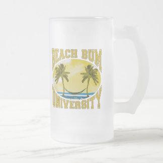 Beach Bum University 16 Oz Frosted Glass Beer Mug
