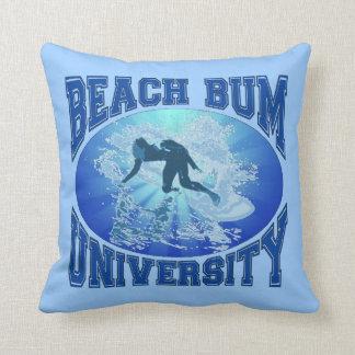 Beach Bum University Pillow
