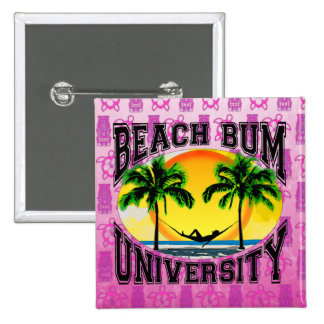 Beach Bum University Pinback Button