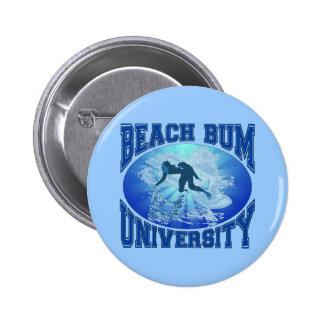 Beach Bum University Pinback Button