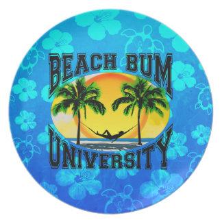 Beach Bum University Dinner Plate