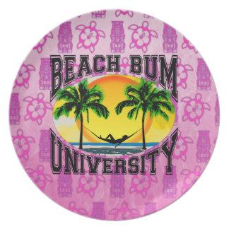 Beach Bum University Party Plates