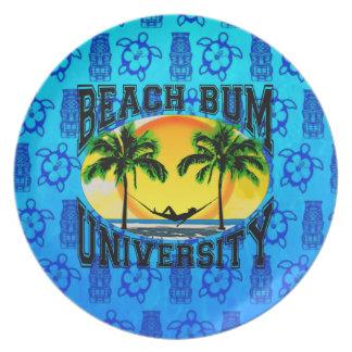 Beach Bum University Party Plate