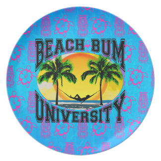 Beach Bum University Dinner Plates