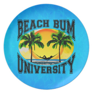 Beach Bum University Plate