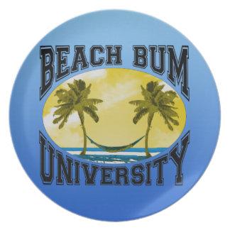 Beach Bum University Plates