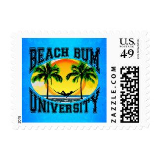 Beach Bum University Postage Stamp