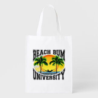 Beach Bum University Reusable Grocery Bag