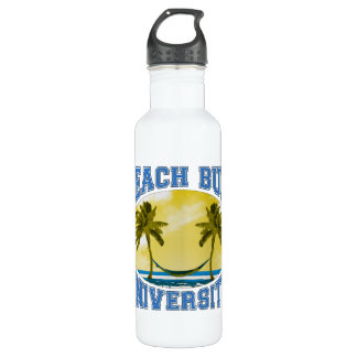 Beach Bum University Stainless Steel Water Bottle