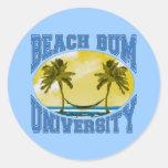 Beach Bum University Sticker
