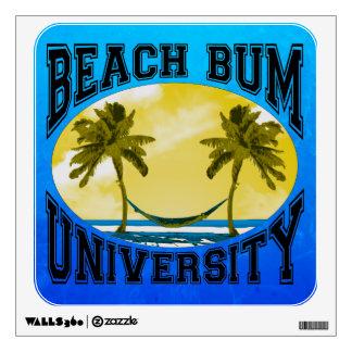 Beach Bum University Wall Sticker