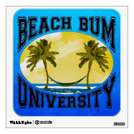 Beach Bum University Room Decal