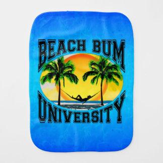 Beach Bum University Burp Cloths