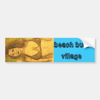 beach bum village car bumper sticker