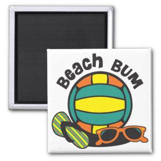 Beach Bum Volleyball Magnet