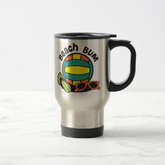 Beach Bum Volleyball Travel Mug