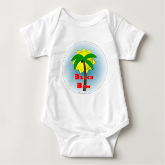 Beach Bum with Palm Tree Infant Creeper