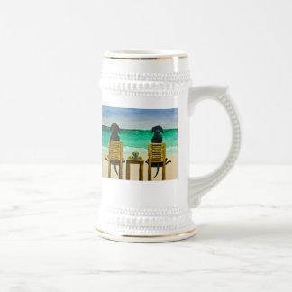 Beach Bums Labrador Retriever Beer Mug
