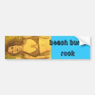 beach bums rock car bumper sticker