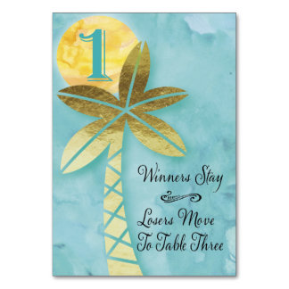 Beach Bunco Table Card #1