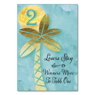Beach Bunco Table Card #2