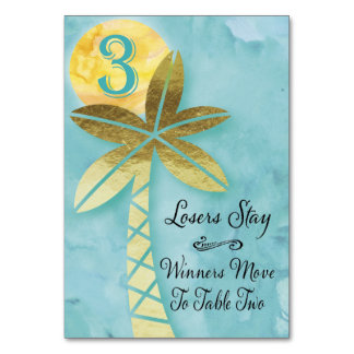 Beach Bunco Table Card #3