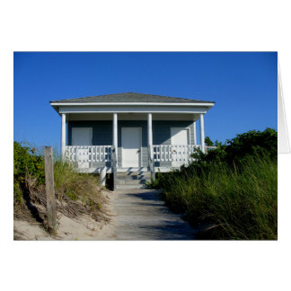 beach bungalow stationery note card