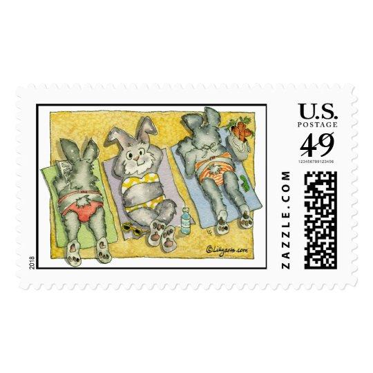 Beach Bunnies - Custom Postage Stamps
