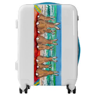 Beach Bunnies on Blanket Vacation Luggage Carry On